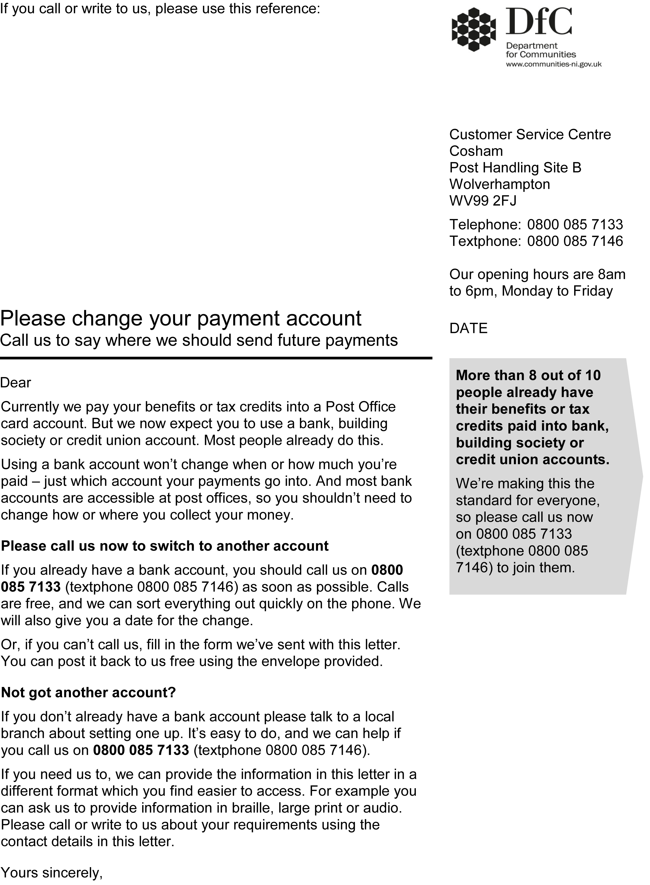 Student finance ni cover letter
