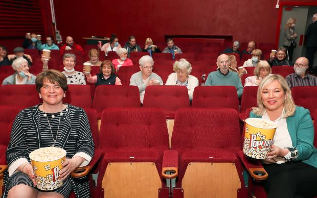 First Minister Arlene Foster and deputy First Minister Michelle O'Neill joined local film fans at the Strand's Silver Screenings programme.