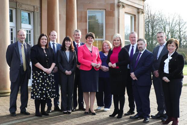 Northern Ireland Executive Ministers pictured at Greenmount